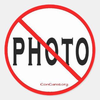 No Photo-3 inch Stickers-Sheet of 6 Round Sticker