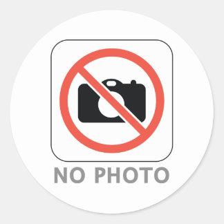 No Photo Round Sticker