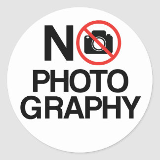 No Photography Classic Round Sticker