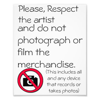 no photography or film poster photo art