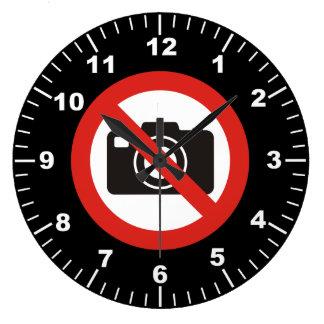 No Photos Allowed Large Clock