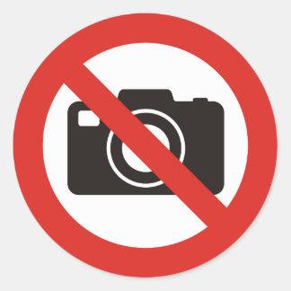 No Photos Allowed Round Sticker