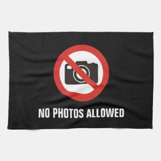 No Photos Allowed Tea Towel