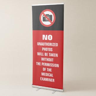 No Photos Autopsy Room Sign