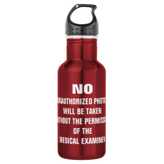No Photos Autopsy Room Sign 532 Ml Water Bottle