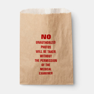 No Photos Autopsy Room Sign Favour Bag