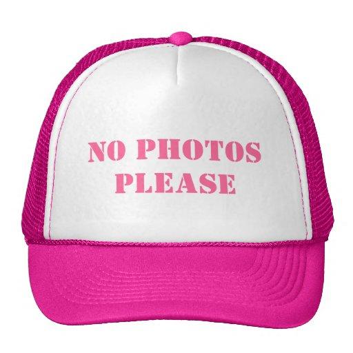 """No photos please trucker hat"""""""