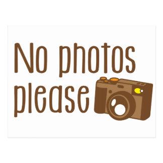 No Photos Please with vintage Camera Postcard