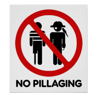 No Pillaging - Poster