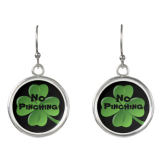 No pinching saint Patrick's Day earrings