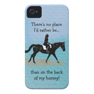 No Place I'd Rather Be - Equestrian Horse iPhone 4 Covers