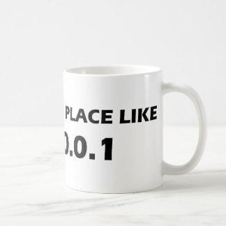 No Place Like 127.0.0.1 Basic White Mug