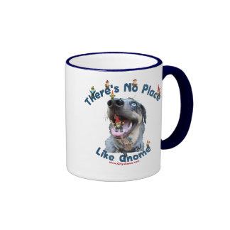 No Place Like Gnome Dog Mugs