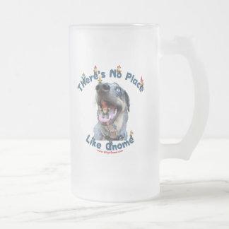 No Place Like Gnome Dog Coffee Mugs