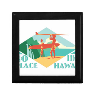 No Place Like Hawaii Small Square Gift Box