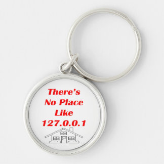 no place like home Silver-Colored round key ring