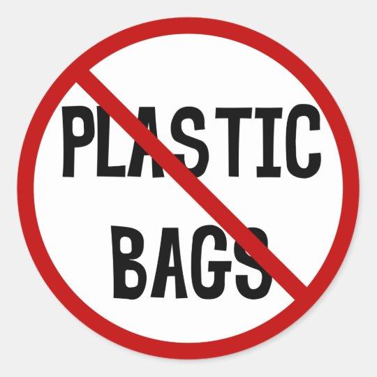 No Plastic Bags Sticker Zazzle Com Au