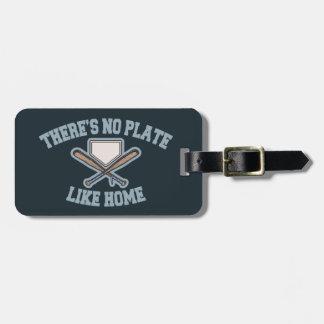 No Plate Like Home III Luggage Tag