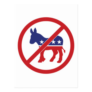 No Politics Democrat Donkey Postcards