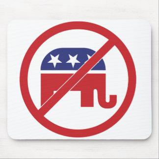 No Politics Republican Elephant Mouse Pad