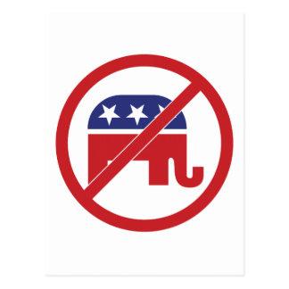 No Politics Republican Elephant Postcard