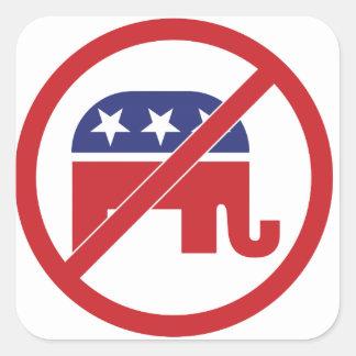 No Politics Republican Elephant Square Sticker