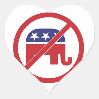 No Politics Republican Elephant Stickers