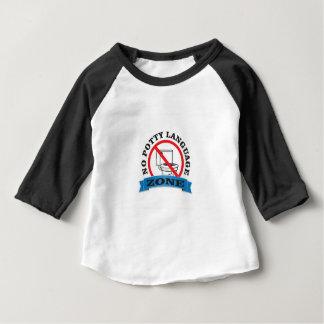 no potty language zone baby T-Shirt