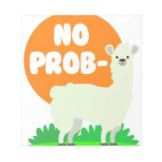 No Prob-Llama - The No Problem Llama - Funny Notepad