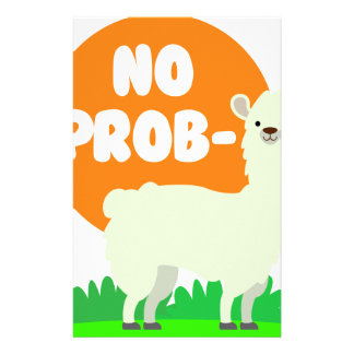 No Prob-Llama - The No Problem Llama - Funny Stationery