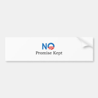 No Promise Kept Bumper Sticker