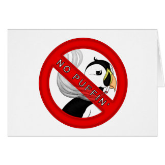 No Puffin Card