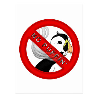 No Puffin Postcard
