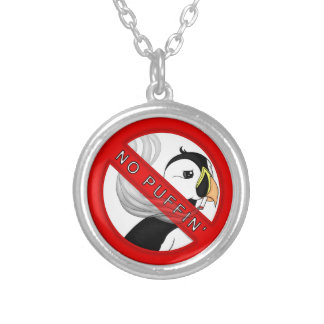 No Puffin Silver Plated Necklace