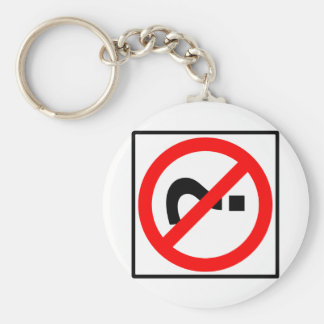 No Questions Highway Sign Key Chain