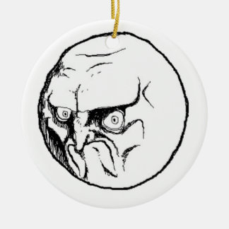 NO. Rage Face Christmas Ornament