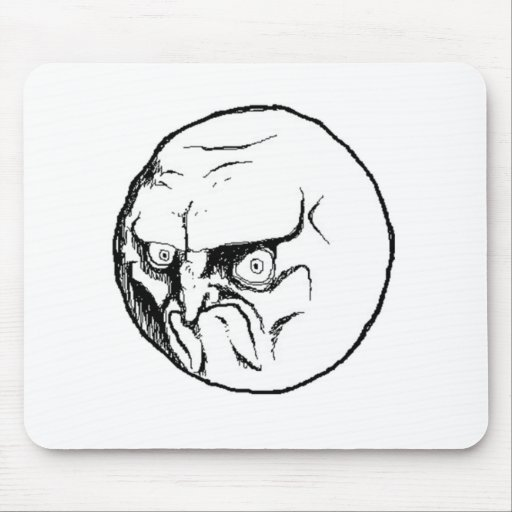 NO. Rage Face Mouse Pad
