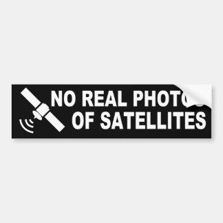 No Real Photos...(Flat Earth Bumper Sticker) Bumper Sticker