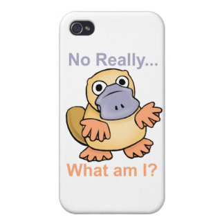 No Really What am I Platypus iPhone 4 Covers