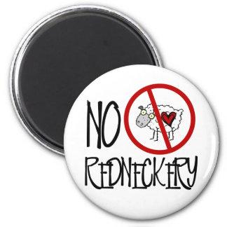 No Redneckery! Funny Redneck Sheep 6 Cm Round Magnet