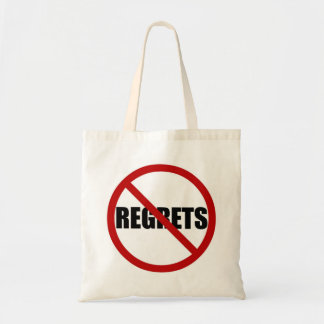 No Regrets Icon Canvas Tote Bag