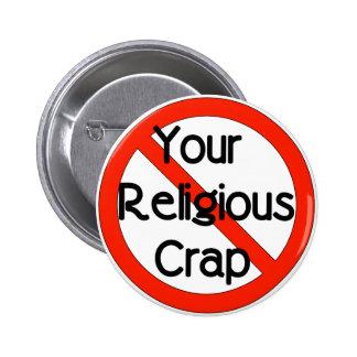No Religious Crap 6 Cm Round Badge