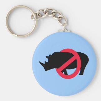 No Rhinos - Rino Buster Basic Round Button Key Ring
