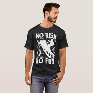 No Risk No Fun Snowmobile T-Shirt