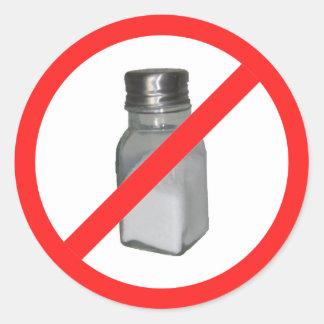 No salt classic round sticker