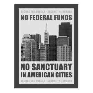 No Sanctuary Cities Postcard