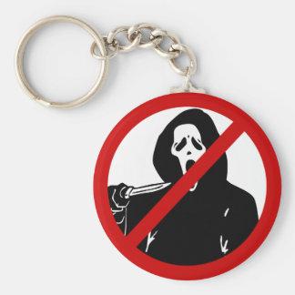 no-scream basic round button key ring