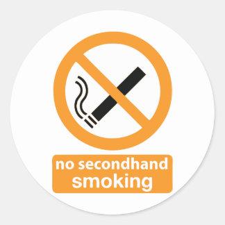no secondhand smoking 002 classic round sticker