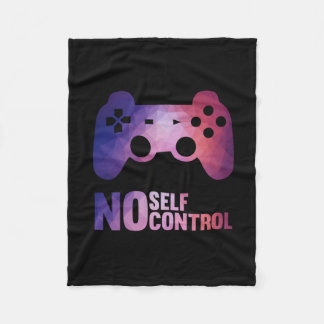 No Self-Control Fleece Blanket