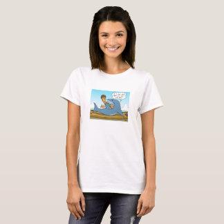 No Shaaark finning white T-shirt
